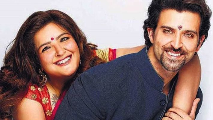 Sunaina Roshan with her brother