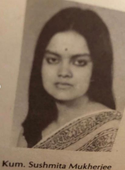 Sushmita Mukherjee during her days in The National School Of Drama