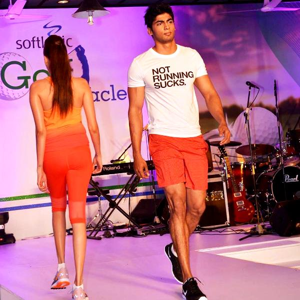 Tharshan Thiyagarajah Walking The Ramp For A Clothing Brand