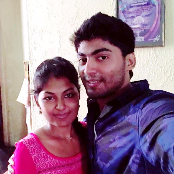 Tharshan Thiyagarajah With His Sister Thushara Thiyagarajah
