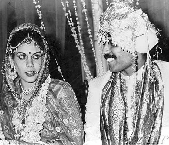 A marriage photo of Kapil Dev and Romi Bhatia