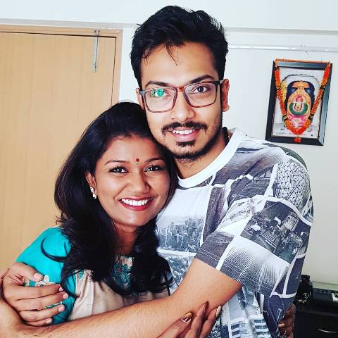 Vaishali Mhade with her younger brother, Shreyas