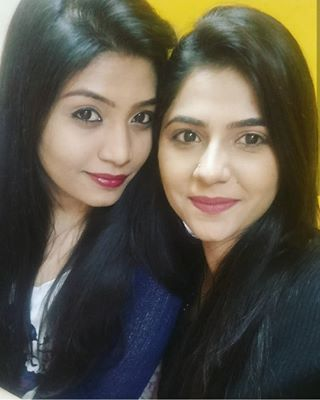 Veena Jagtap with her sister