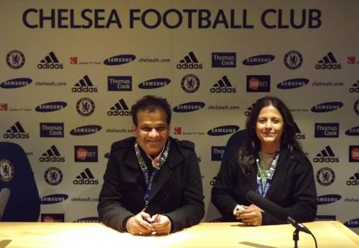 Vidyadhar Joshi and his wife are connected with Chelsea Football Club