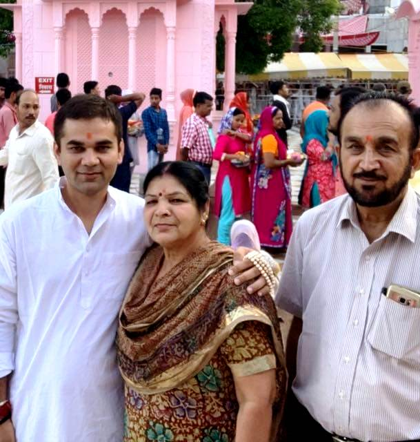 Ajay Pal Sharma With His Parents