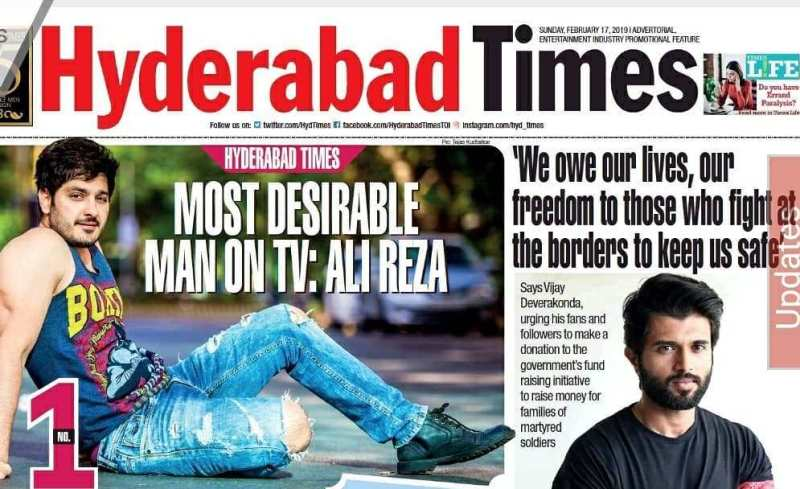 Ali Reza as Hyderabad Times Most Desirable Man