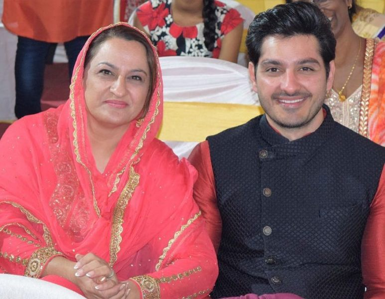 Ali Reza with his mother