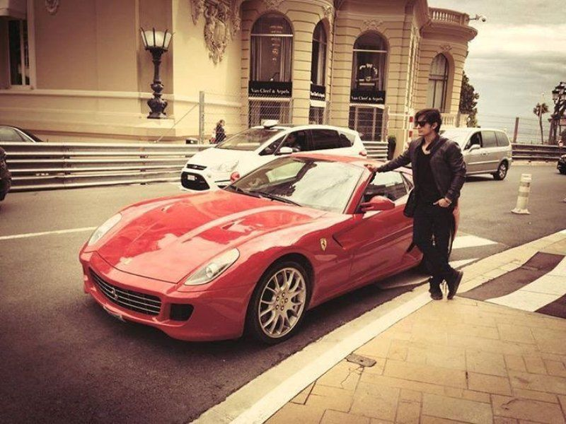 Ali Zafar Posing With His Car