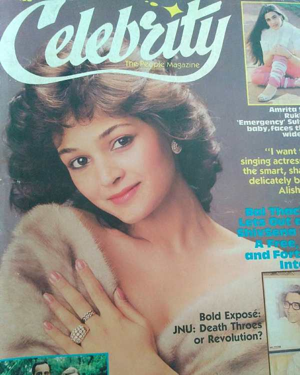 Alisha Chinai On The Cover Page Of Celebrity