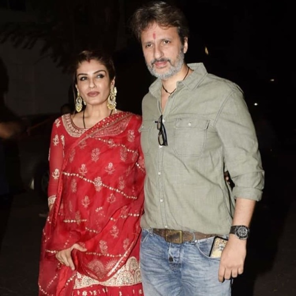 Anil Thadani with Raveena Tandon