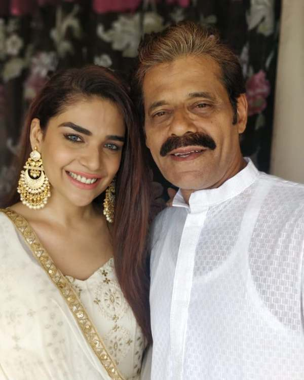 Anjum With Her Father