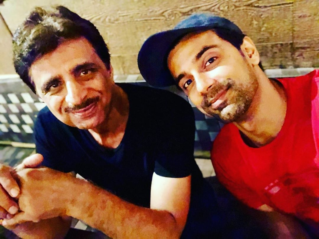 Anuj Sachdeva with his father-Prem Sachdeva
