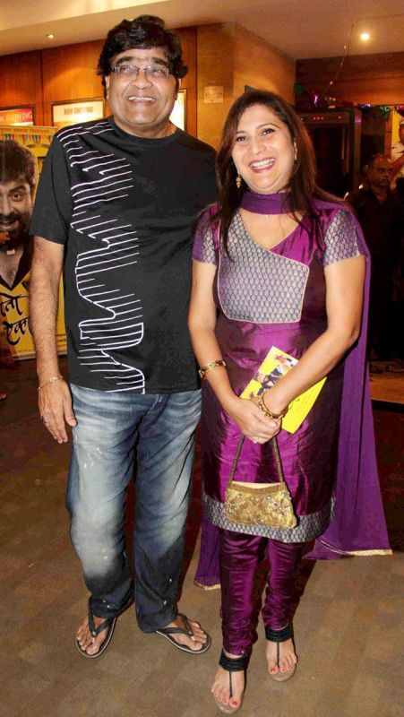 Ashok Saraf with his wife