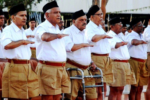 BS Yediyurappa In An RSS Meeting