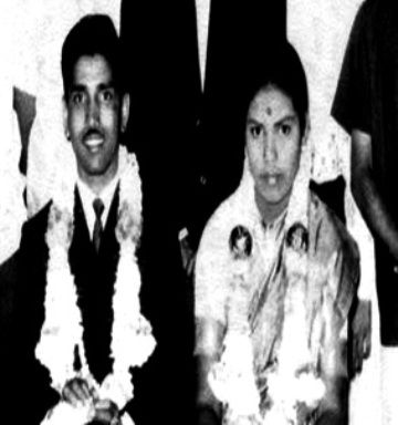 BS Yediyurappa With His Wife Mythra Devi