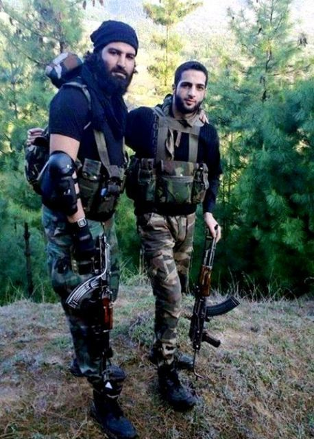 Burhan Wani With A Member Of The Hizb-ul-Mujahideen