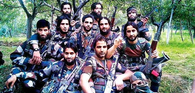 Burhan Wani With Other Militants