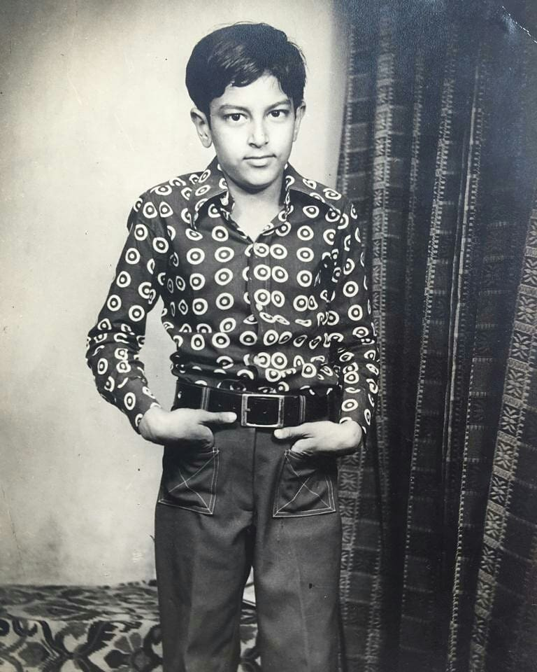 Childhood image of Vindu Dara Singh