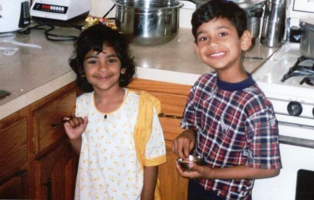Childhood photo of Varun Sandesh and his sister