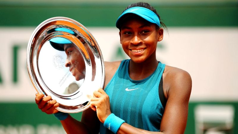 Cori Gauff With The French Open Junior Girls Title