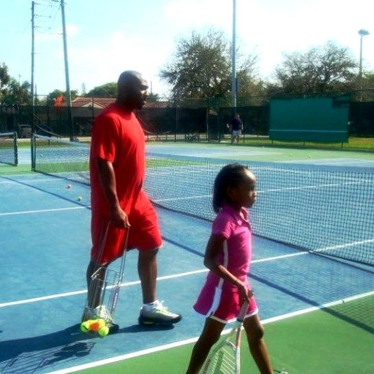 Cori Gauff's Father Corey Gauff Training Her