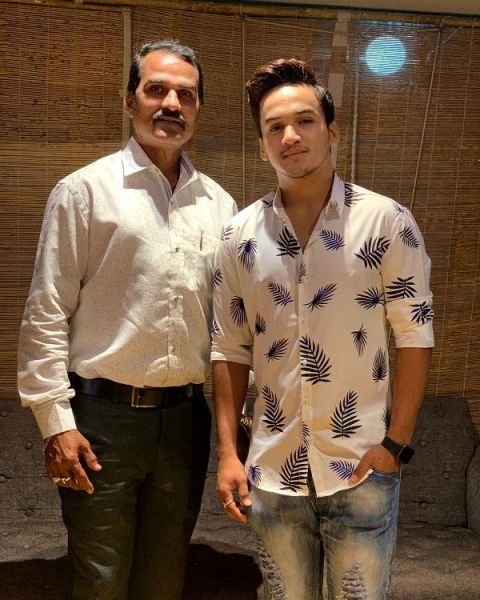 Faisal Khan with his father