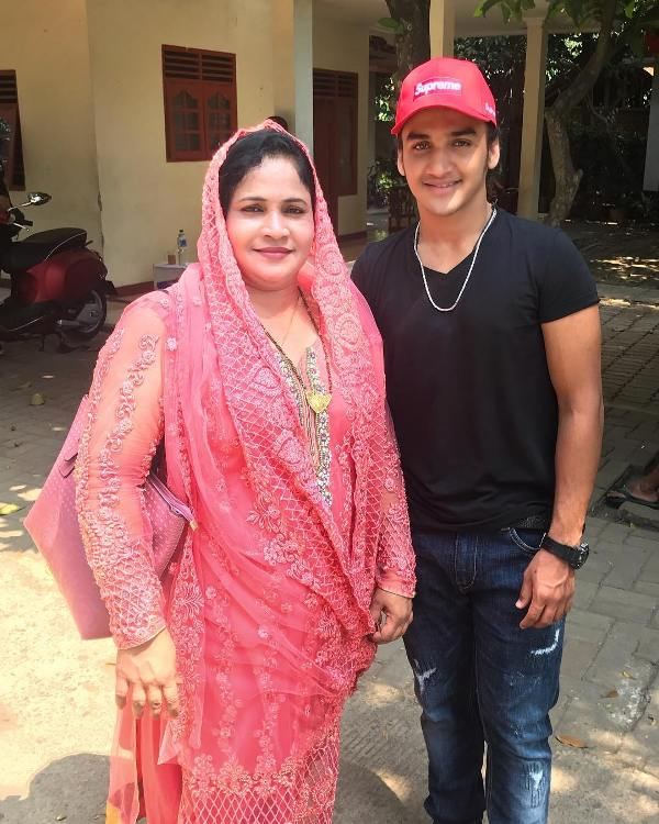 Faisal Khan with his mother