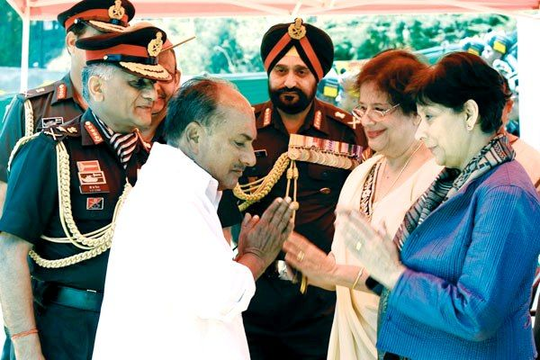 Former Defence Minister AK Antony With Sam Manekshaw's Daughters Sherry And Maja