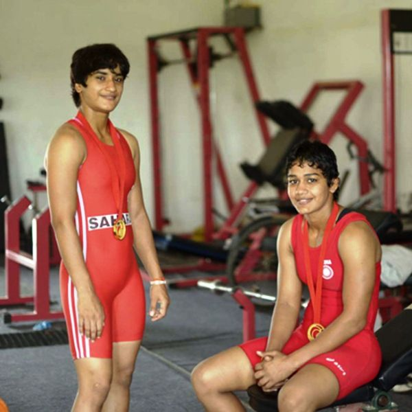 Geeta and Babita Phogat during their training sessions