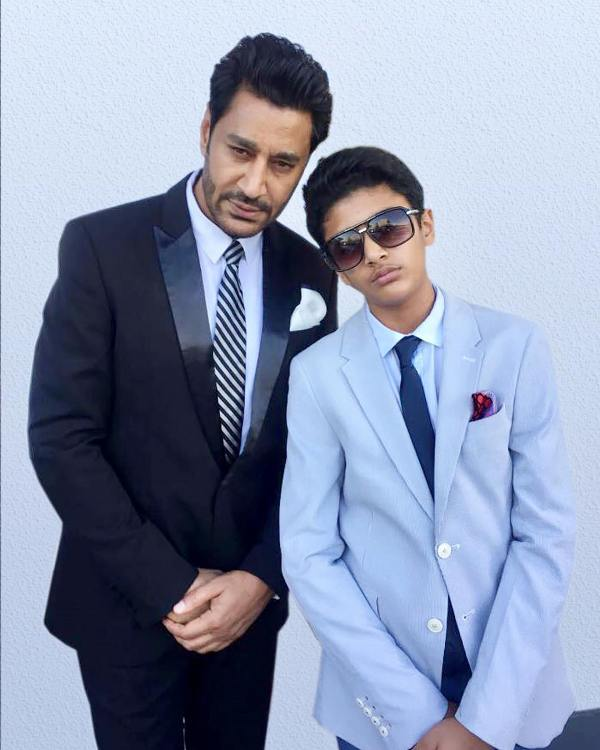 Harbhajan Mann with his son Mehar Inder Singh Mann