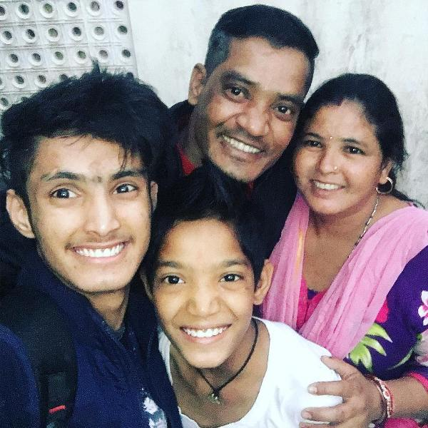 Hardik Rawat with his family