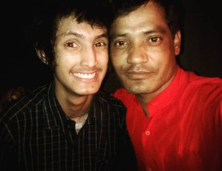 Hardik Rawat with his father