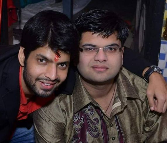 Hitesh Bharadwaj with his brother, Rahul Bharadwaj