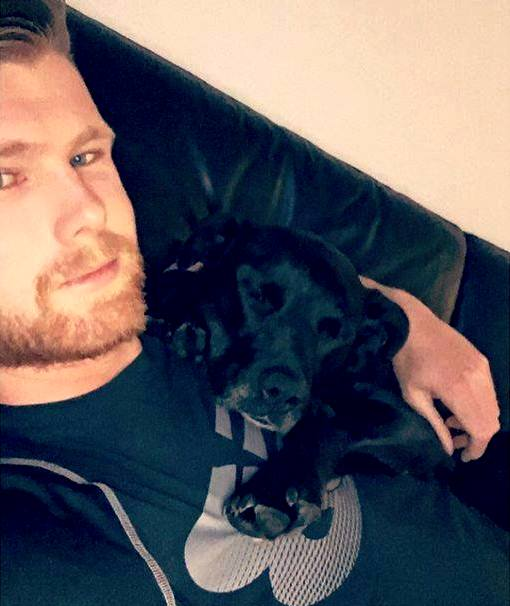 James Neesham With His Dog