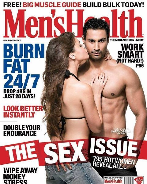 Karan Oberoi (KO) on the cover page of Men's Health Magazine