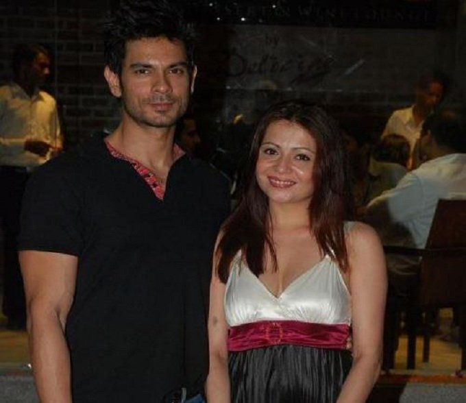 Keith Sequeira with his ex wife Samyukta Singh