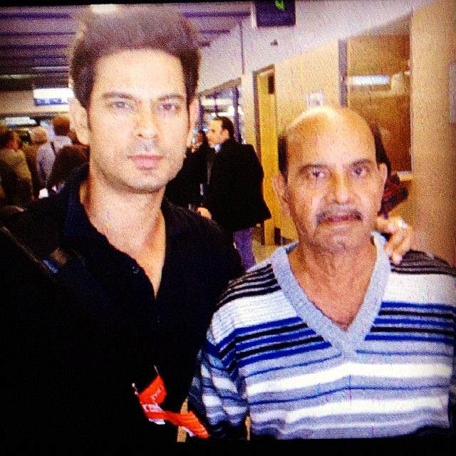 Keith Sequeira with his father
