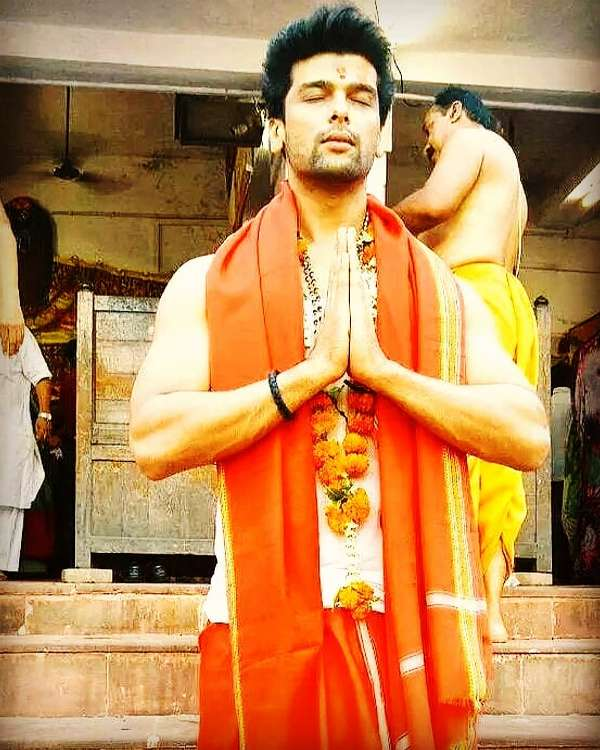 Kushal Tandon at a religious place