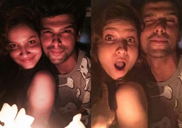 Kushal Tandon with Ankita Lokhande