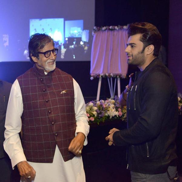 Manish Paul with Amitabh Bachchan