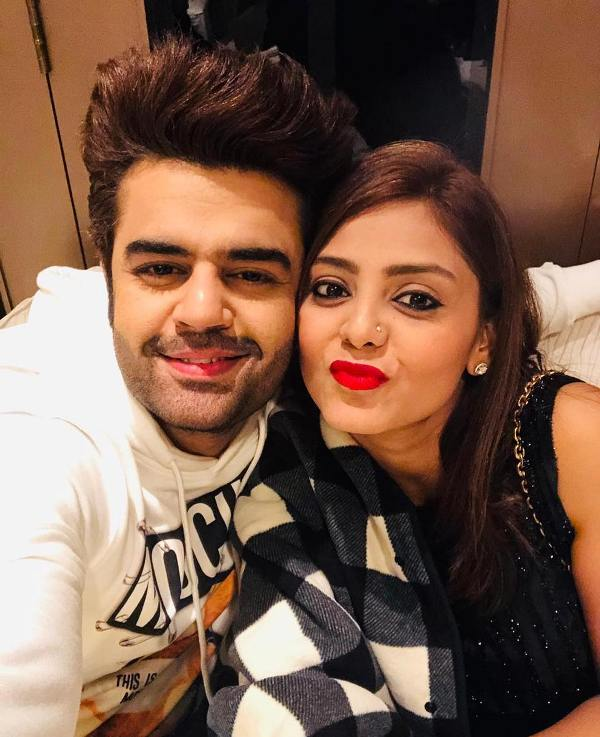 Manish Paul with his wife
