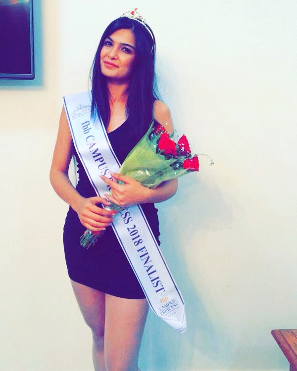 Muskaan Kataria as the finalist of FBB Campus Princess 2018