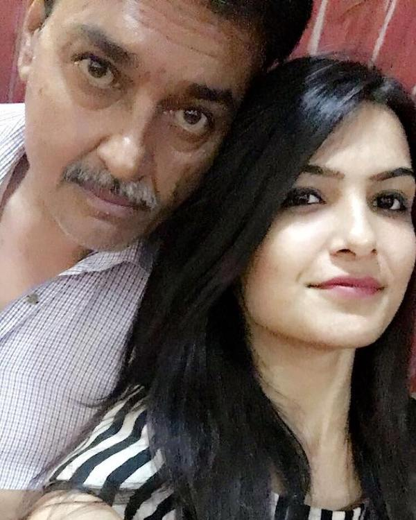 Muskaan Kataria with her father