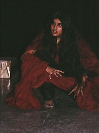 Nimrit Kaur Ahluwalia during one of her theatre performances