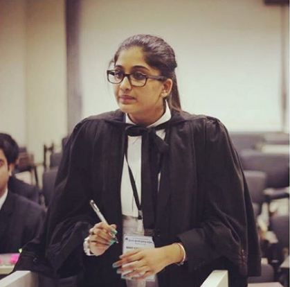Nimrit Kaur Ahluwalia in her Law Institute