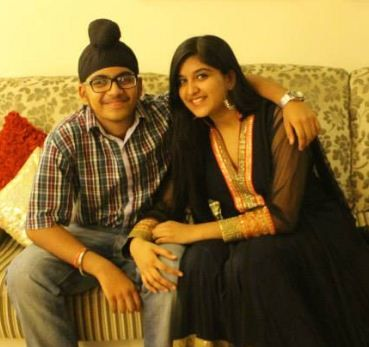 Nimrit Kaur Ahluwalia with her brother-Arpit Singh Ahluwalia