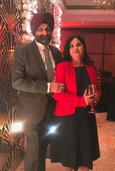 Nimrit Kaur Ahluwalia's parents