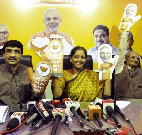 Nirmala Sitharaman as the spokesperson of the BJP