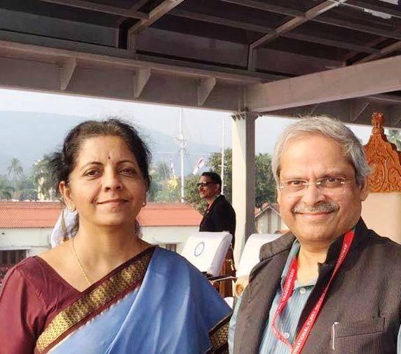 Nirmala Sitharaman with her husband