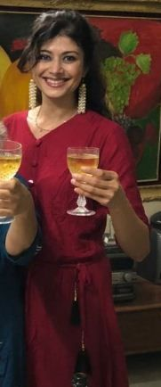 Pooja Batra drinking alcohol